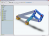 SolidWorks model of the Peaucellier-Lipkin linkage